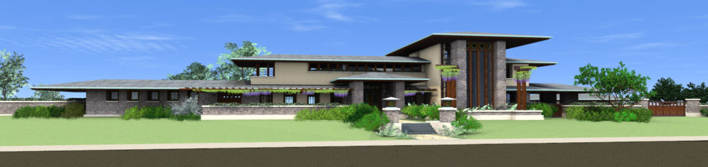 Golden Gate Prairie custom home design from front
