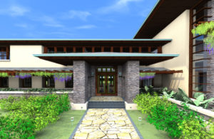 Entry Golden Gate Prairie Custom Home Design